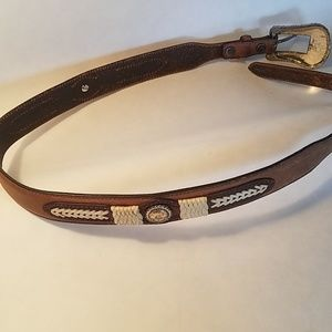Justin Western leather concho belt